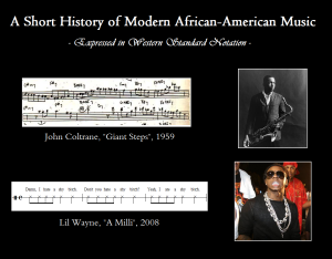 short history of Modern African-American Music